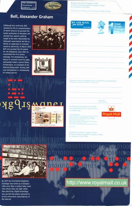 GB Aerogrammes from Collect GB Stamps
