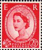 Wilding Definitive 2.5d Stamp (1952) red