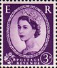 1952 -1954 Wilding Definitives 3d Stamp (1952) lilac