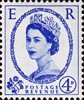 1952 -1954 Wilding Definitives 4d Stamp (1952) blue