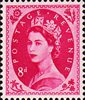 1952 -1954 Wilding Definitives 8d Stamp (1952) magenta