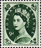 1952 -1954 Wilding Definitives 9d Stamp (1952) bronze-green