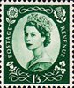 1952 -1954 Wilding Definitives 1s3d Stamp (1952) green