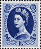 1952 -1954 Wilding Definitives 1s6d Stamp (1952) indigo