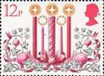 Christmas 12p Stamp (1980) Candles