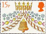 Christmas 15p Stamp (1980) Crow, Chains and Bell