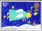 Christmas 1981 18p Stamp (1981) Flying Angel
