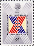 The Commonwealth Parliamentary Conference 34p Stamp (1986) Stylised Cross on Ballot Paper