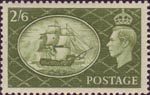 Festival High Value 2s6d Stamp (1951) HMS Victory