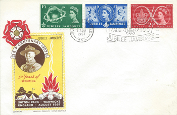 1957 Commemortaive First Day Cover from Collect GB Stamps