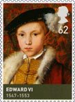 Kings and Queens (Tudors) 62p Stamp (2009) Edward VI (1547-1553)