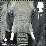 World Wildlife Fund 1st Stamp (2011) African Elephant