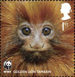World Wildlife Fund 1st Stamp (2011) Golden Lion Tamarin