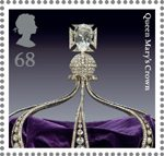 The Crown Jewels 68p Stamp (2011) Queen Mary's Crown