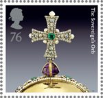 The Crown Jewels 76p Stamp (2011) The Sovereign's Orb