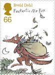Roald Dahl 66p Stamp (2012) Fantastic Mr. Fox
