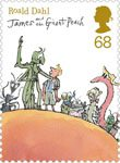 Roald Dahl 68p Stamp (2012) James and the Giant Peach