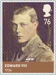 The House of Windsor 76p Stamp (2012) Edward VIII (1936)