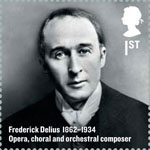 Britons of Distinction 1st Stamp (2012) Frederick Delius