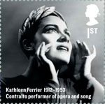 Britons of Distinction 1st Stamp (2012) Kathleen Ferrier