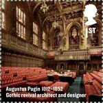 Britons of Distinction 1st Stamp (2012) Augustus Pugin