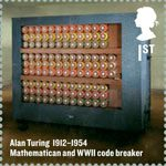 Britons of Distinction 1st Stamp (2012) Alan Turing