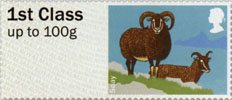Post & Go - British Farm Animals I - Sheep 1st Stamp (2012) Soay