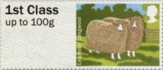 Post & Go - British Farm Animals I - Sheep 1st Stamp (2012) Leicester Longwool