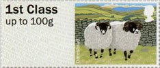 Post & Go - British Farm Animals I - Sheep 1st Stamp (2012) Dalesbred