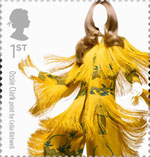 Great British Fashion 1st Stamp (2012) Ossie Clark by Celia Birtwell