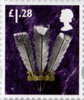 Country Definitive - Tariff 2012 £1.28 Stamp (2012) Feathers