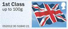 Post & Go Union Flag 1st Stamp (2012) Union Flag
