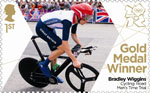 Team GB Gold Medal Winners 1st Stamp (2012) Cycling: Road Men's Time Trial - Team GB Gold Medal Winners