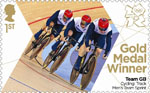 Team GB Gold Medal Winners 1st Stamp (2012) Cycling: Track Men's Team Sprint - Team GB Gold Medal Winners