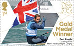 Team GB Gold Medal Winners 1st Stamp (2012) Sailing: Finn Men�s Heavyweight Dinghy - Team GB Gold Medal Winners