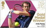 Team GB Gold Medal Winners 1st Stamp (2012) Tennis: Mens Singles - Team GB Gold Medal Winners