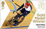 Team GB Gold Medal Winners 1st Stamp (2012) Cycling: Track Men's Sprint - Team GB Gold Medal Winners