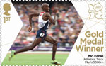 Team GB Gold Medal Winners 1st Stamp (2012) Athletics: Track Men's 5,000m - Team GB Gold Medal Winners
