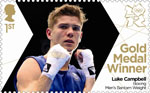 Team GB Gold Medal Winners 1st Stamp (2012) Boxing: Men's Bantam Weight - Team GB Gold Medal Winners