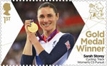 Paralympics Team GB Gold Medal Winners  1st Stamp (2012) Cycling: Track Women's C5 Pursuit - Paralympics Team GB Gold Medal Winners