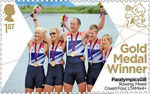 Paralympics Team GB Gold Medal Winners  1st Stamp (2012) Rowing: Mixed Coxed Four, LTAMix4+ - Paralympics Team GB Gold Medal Winners