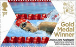 Paralympics Team GB Gold Medal Winners  1st Stamp (2012) Swimming: Women's 200m Freestyle, S14 - Paralympics Team GB Gold Medal Winners