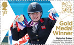 Paralympics Team GB Gold Medal Winners  1st Stamp (2012) Equestrian: Individual Freestyle Test, Grade II - Paralympics Team GB Gold Medal Winners