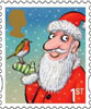 Christmas 2012 1st Stamp (2012) Father Christmas and Robin