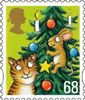 Christmas 2012 68p Stamp (2012) Cat and Mouse