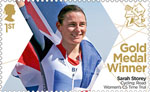 Paralympics Team GB Gold Medal Winners  1st Stamp (2012) Cycling: Road Women's C5 Time Trial - Paralympics Team GB Gold Medal Winners