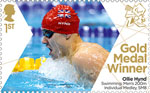 Paralympics Team GB Gold Medal Winners  1st Stamp (2012) Swimming: Men's 200m Individual Medley, SM8 -  Paralympics Team GB Gold Medal Winners