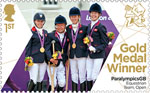 Paralympics Team GB Gold Medal Winners  1st Stamp (2012) Equestrian: Team Open - Paralympics Team GB Gold Medal Winners