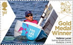 Paralympics Team GB Gold Medal Winners  1st Stamp (2012) Sailing: Single-Person Keelboat, 2.4mR - Paralympics Team GB Gold Medal Winners