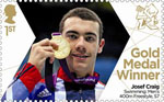 Paralympics Team GB Gold Medal Winners  1st Stamp (2012) Swimming: Men's 400m Freestyle, S7 - Paralympics Team GB Gold Medal Winners